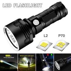 Светодиодный фонарик мощный перезаряжаемый супер яркий дальний мощный наружный домашний прожектор HG99