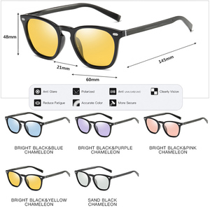 Image 5 - CoolPandas 2020 Retro Frauen Cat Eye Sonnenbrille Photochrome Polarisierte Männer Sonnenbrille Tag Nacht Vision Oculos gafas de sol mujer