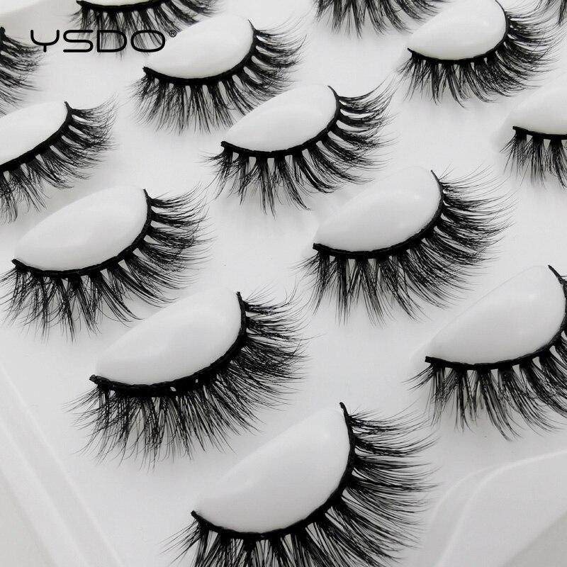 YSDO 5/10 Pairs Eyelashes Natural Long 3D Mink Lashes Makeup Dramatic Mink Eyelashes Thick Volume False Eyelashes Extension Cils