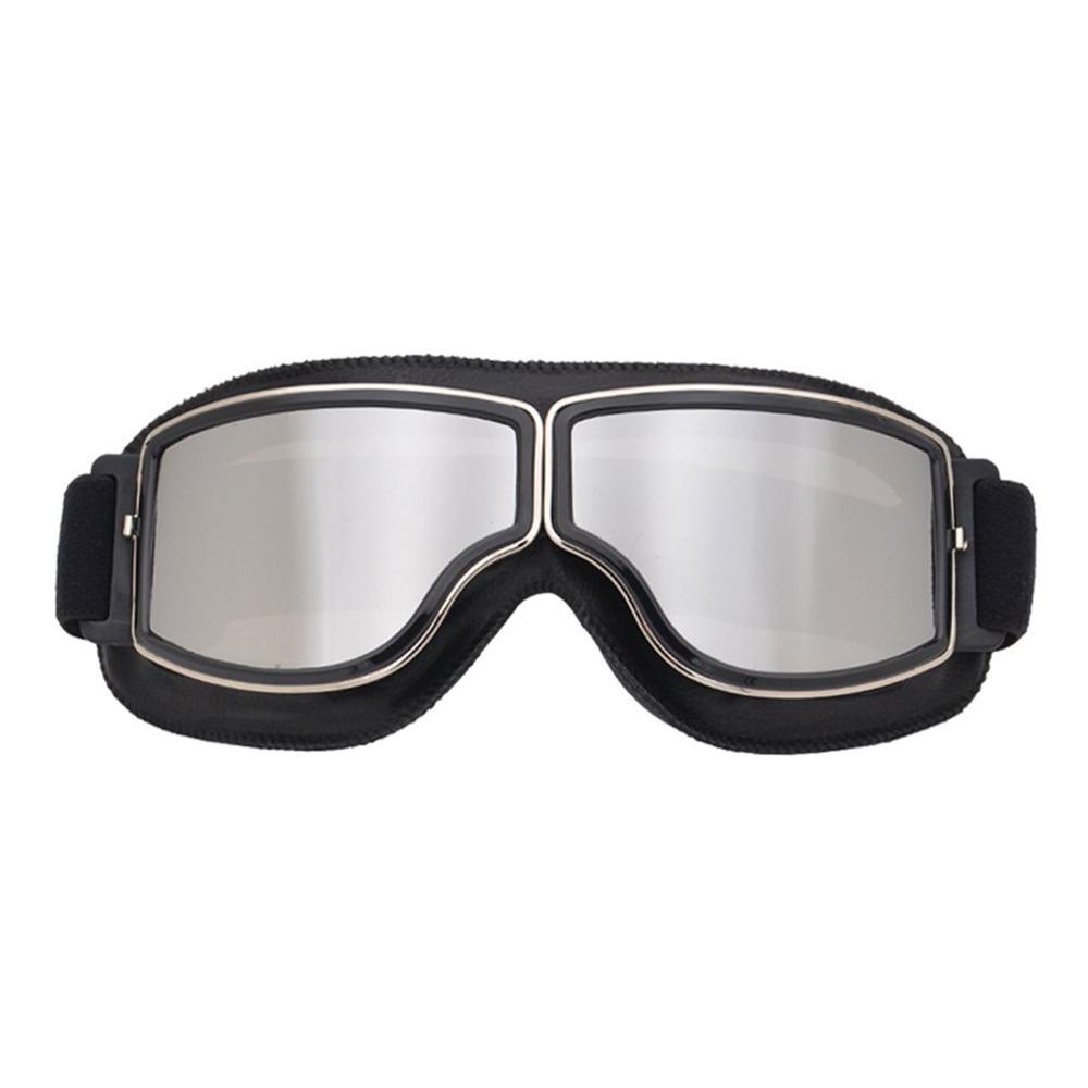 Vintage Motorcycle Goggles Pilot Motorbike Scooter Biker Glasses Helmet Goggles Foldable For Harley