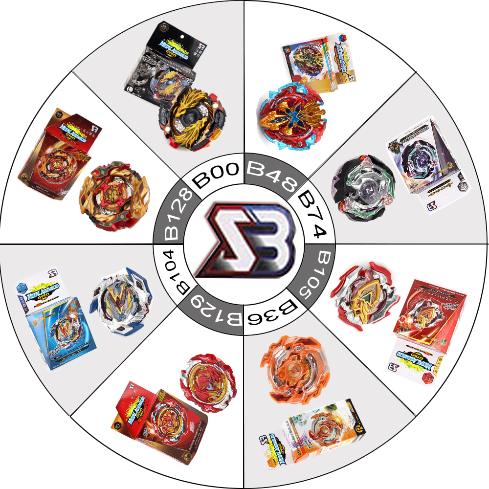 SB Series Beyblades Burst With Luancher Gyroscope In Color Box Alloy Assemble Toys For Children