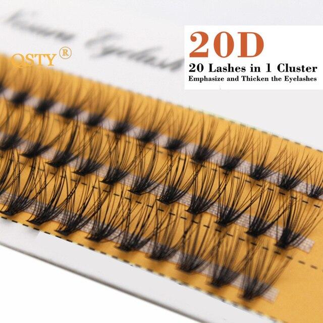 QSTY 20D Professional Makeup Individual Cluster Eye Lashes Grafting Fake False Eyelashes Natural Soft False Eyelash Extension 2