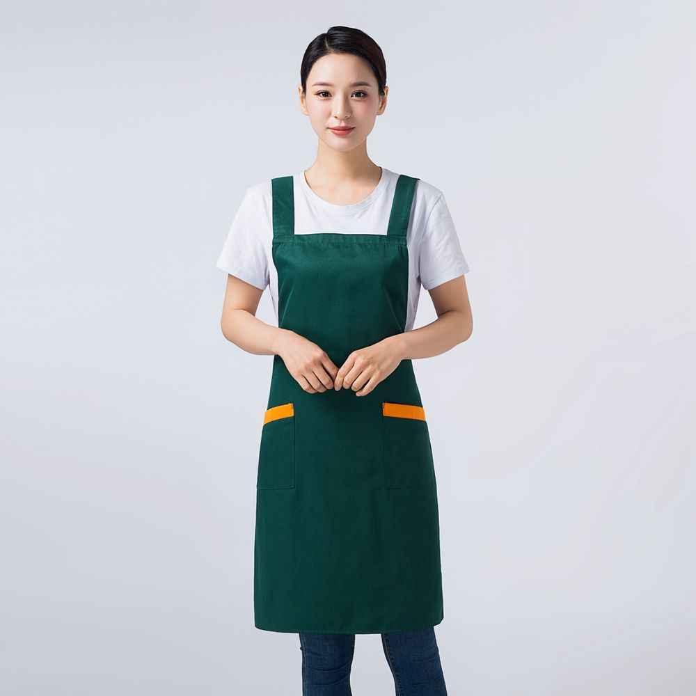 Correa ancha florista delantal de cocina cocinero Antifouling delantal para restaurante Barista trabajo artista logotipo personalizado cómodo delantal