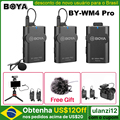 Boya BY-WM4 Pro K1/K2 Dual Channel 2.4G Wireless Studio Condenser Microphone Lavalier Interview Mic for iPhone DRLR Cameras
