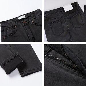 Image 5 - נשים גבוהה מותן ג ינס סקיני ג ינס אישה בתוספת גודל שחור ג ינס אמא Femme עיפרון ינס Vaqueros Mujer Spodnie damskie