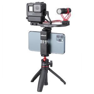 Image 5 - Ulanzi MT 08 להארכה Vlog חצובה SLR DSLR מצלמה Smartphone חצובה הר עבור Sony A6400 A6600 RX100 ZV1 Canon G7X ניקון