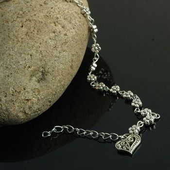 Boho Heart Charm Ankle Chain Beach Anklet Bracelet Barefoot Sandal  Antique Silver Color Jewelry Foot Anklet Bracelet For Women 5