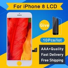 10 pçs grau aaa + + + display lcd para iphone 8 lcd 4.7 3d tela de toque digitador assembléia substituição display lcd frete grátis dhl