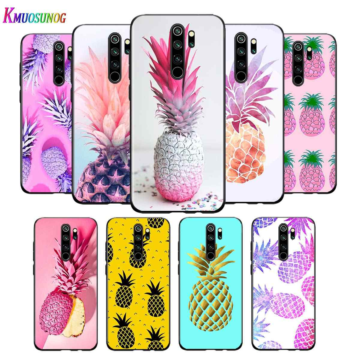 For Xiaomi Redmi Note 9 9S Max Phone Case Colorful Pineapple Back For Xiaomi 8T 8 7 6 5 Pro 5A 4X 4 Black Phone Cover