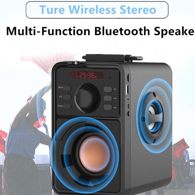 Super Bass Bluetooth Speaker Portable Column High Power Subwoofer Music Center Support AUX TF FM Radio Bluetooth Column Boom Box Consumer Electronics