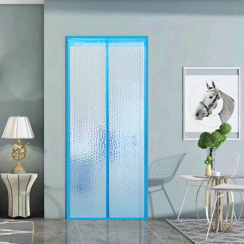 Air Conditioner Room/Kitchen Magnetic Screen Door Magnetic Thermal Insulated Mesh Screen Door Curtain