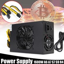 Nouveau or asic bitcoin mining 1600W modulaire PC alimentation pour A6 A7 S7 S9 R4 mineur 10x6 broches(China)