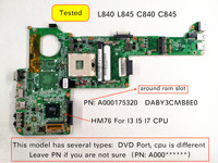 Tested for Toshiba Satellite L840 L845 C840 C845 A000175320 A000174120 DABY3CMB8E0 Notebook motherboard