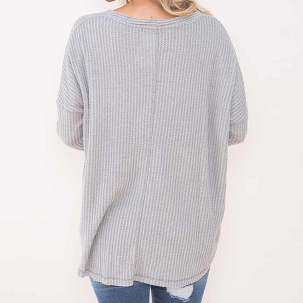 Вязаный свитер пуловеры женский свободный свитер вязаная туника блузка Топы с узлами летучая мышь крыла простые рубашки женский джемпер с мягкой подошвой