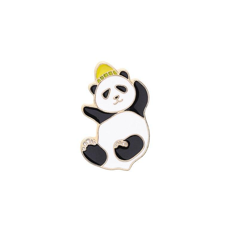 Булавка в виде животных из мультфильма голые медведи Милая гризли панда ледяной медведь джинсовые эмалированные булавки Kawaii нагрудные броши значки модные подарки - Окраска металла: XZ186