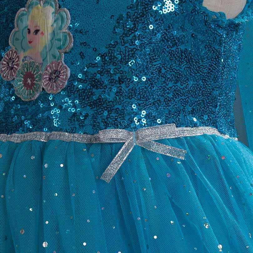 3-10 Yrs New Summer Girls Dress Elsa Anna Children Baby Kids Cosplay Dress Costume Princess Perform Clothes Fairy Style