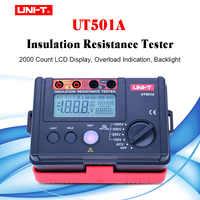 UNI-T d'affichage à rétroéclairage LCD UT501A 100V--1000V megger isolation terre résistance au sol compteur testeur megohmmètre voltmètre