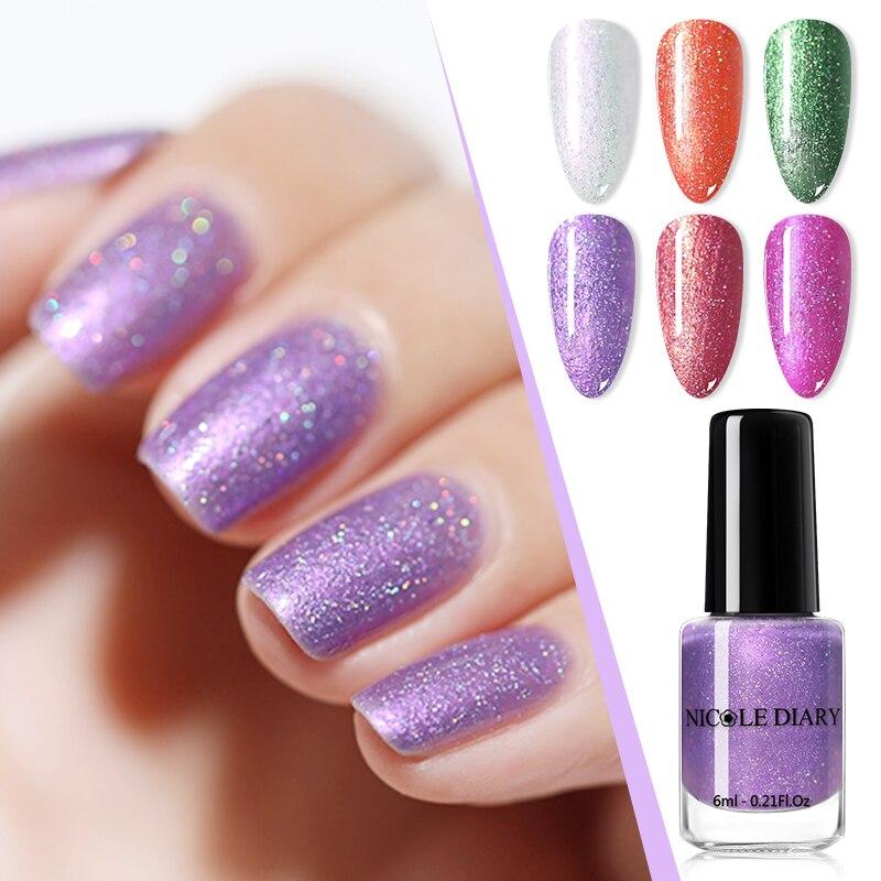 Лак NICOLE DIARY для ногтей пурпурный Темный матовый цвет без отшелушивания цвет s натуральный сушильный лак для ногтей Дизайн ногтей своими рука...