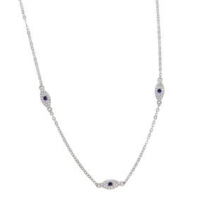Image 3 - 2018 Fine silver jewelry minimal delicate cz Turkish evil eye charm dainty choker collarbone adorable women girl chain necklace