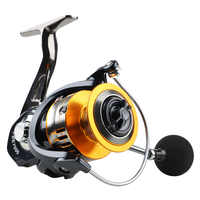 DONQL Spinning Fishing Reel 5.0:1 Metal Spool Fish Wheel Spinning Reel 6BB 2000-7000 Series Left/Right Hand Saltwater Fish Wheel