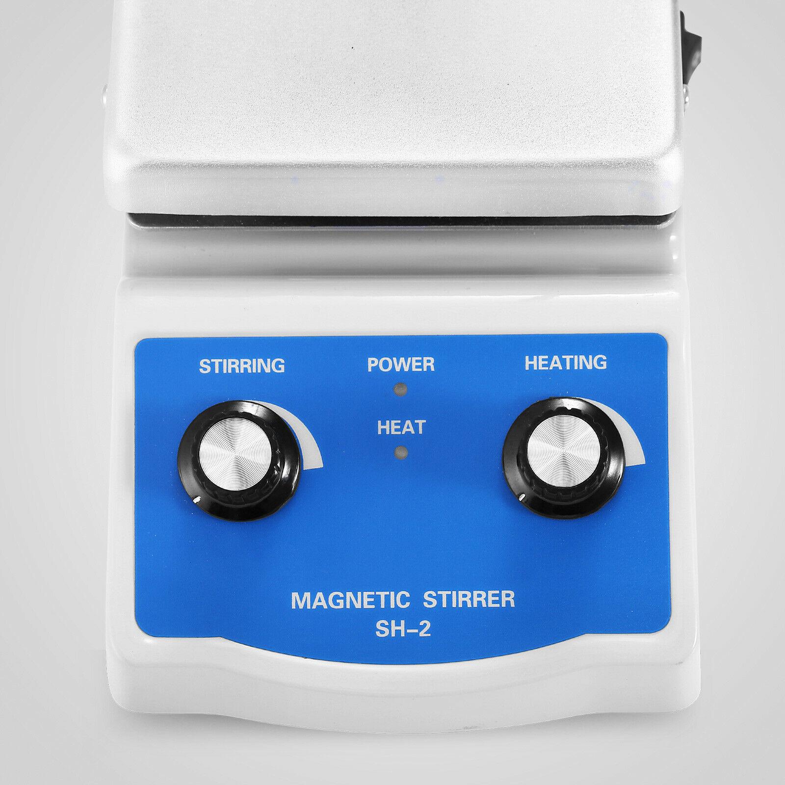 Sh 2 Магнитная мешалка с горячей плитой с двойным управлением нагревательный держатель для перемешивания лаборатория - 6