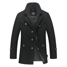 Winter Jacket Men Woolen Coat Autumn Double Collar Wool Warm Windbreaker Thick Jackets Streetwear Clothes