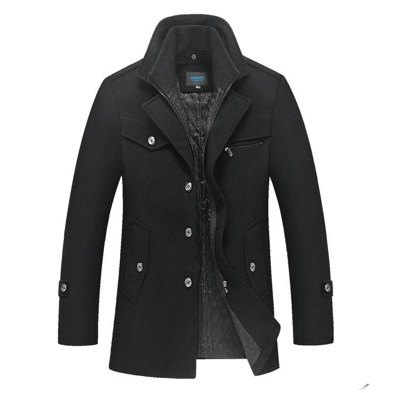 Winter Jacket Men Woolen Coat Autumn Jacket Double Collar Coat Men Jacket Wool Warm Windbreaker Thick Jackets Streetwear Clothes