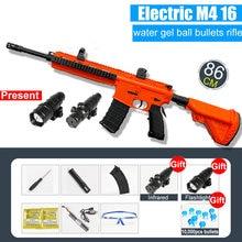Pistola de agua eléctrica de ondas de choque para niños, juguete para exteriores, Rifle de francotirador, submáquina, pistola de agua, regalo de cumpleaños, M416