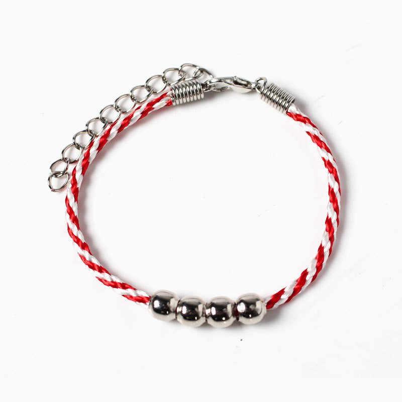 Bracelets fil rouge bijoux chanceux pour perles en métal Bracelets porte-bonheur ami cadeau famille bracelet béni Feminino 2019