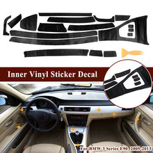 3D Car Stickers Interior Trim Decal For BMW 3 Series E90 2005-2013 Accessory Practical(China)