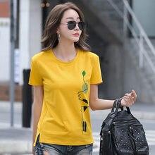 LJSXLS Short Sleeve T-Shirt Print T Shirt Women Cotton Korean Plus Size Woman Clothes 2021 Spring Autumn Tops Tee Shirt Femme