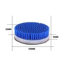 新 5 インチタイヤ/カーペットブラシショートヘア電動クリーニングブラシパッド研磨機に添付 (ダや回転) 車のディテール