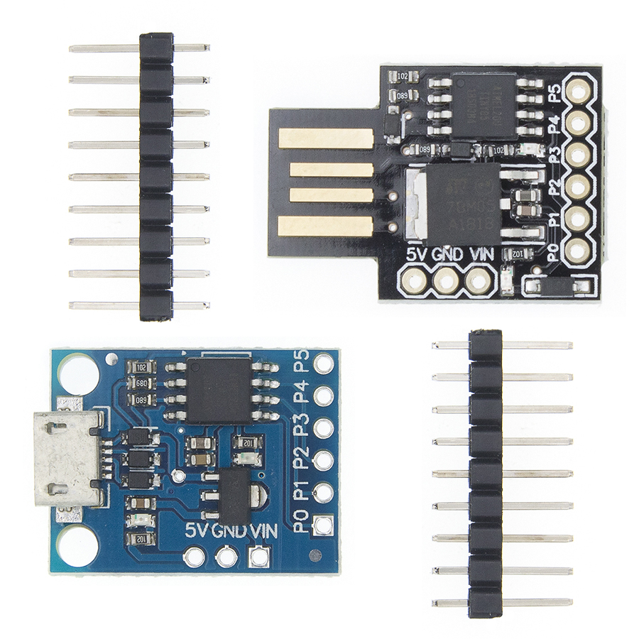 Blue Black TINY85 Digispark Kickstarter Micro Development Board ATTINY85 module for Arduino IIC I2C USB(China)