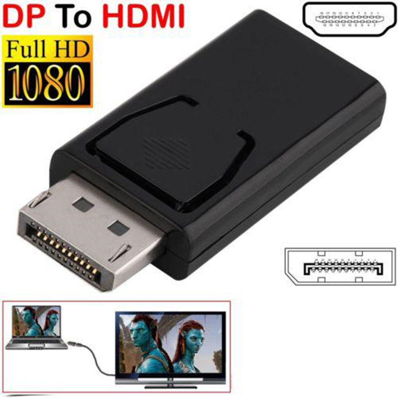 1080P Display Port DP Male To HDMI Female Adapter Black High Quality Dp To Hdmi Converter For HDTV PC