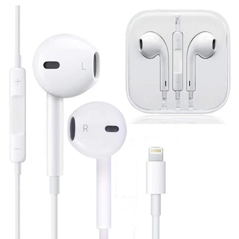 Проводные наушники Bluetooth, наушники для Apple iPhone 11 Pro XR X XS Max 8 7 Plus 6 SE, наушники-вкладыши с микрофоном, наушники