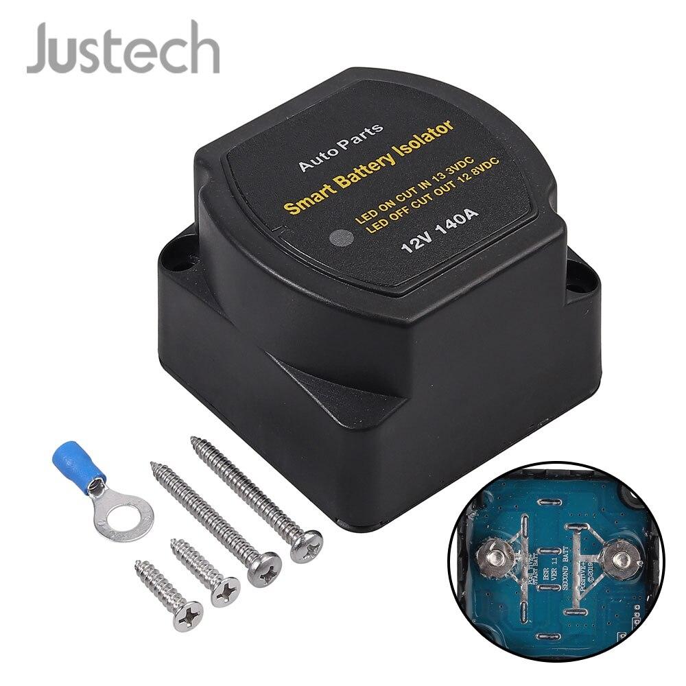 Justech 12V 140A чувствительное к напряжению женское реле VSR для жилого автомобиля умный изолятор батареи Зарядка 2 аккумулятор автозапчасти