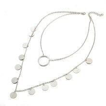 DUOBLA necklace women Silver chain Alloy women jewelry choker Crystal Round Tassels necklace Retro geometric pendant necklace цена 2017