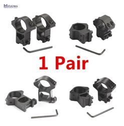 Anillos de montaje para MIZUGIWA Scope, 25,4mm/11mm Weaver 30mm/20mm, riel Picatinny para óptica Sight Pistol, accesorios para Airsoft, 1 par