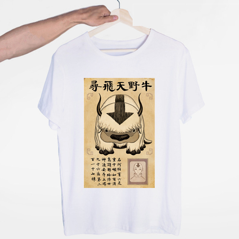 Men's <font><b>Avatar</b></font> The Last Airbender <font><b>Aang</b></font> <font><b>Avatar</b></font> New Fashion Hip Hop T Shirt Men Women Harajuku T-Shirts Print Tees Tops image