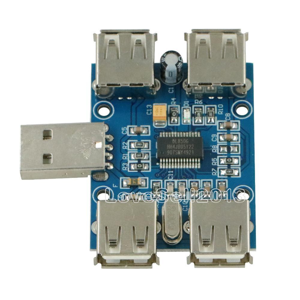 5V USB HUB USB2.0 Hub Concentrator 4-Female USB Expansion Board Module NEU