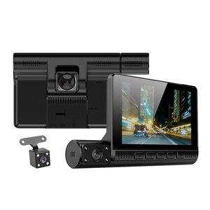 Image 5 - Full HD 1080P gece görüş çizgi kam 4.0 inç dokunmatik ekran dikiz aynası Video uzaktan kaydedici araç içi kamera Registrator