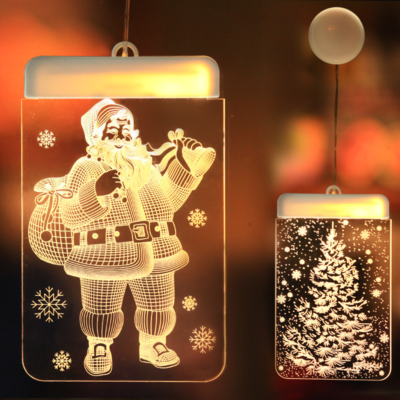 2019 New Year Decorative Batteries Christmas Led Lights Reindeer Tree For Bedroom Home Living Room Decoration Xmas Lights Gifts