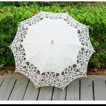 Sun-Umbrella Lace Bride Vintage White for Ivory Wedding-Parasol Bridal-Accessories Spring