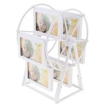 Cadre Photo rotatif pour nouveau-né, 3 pouces, 3.5x5, en forme de ciel, grande roue, décor pour la maison