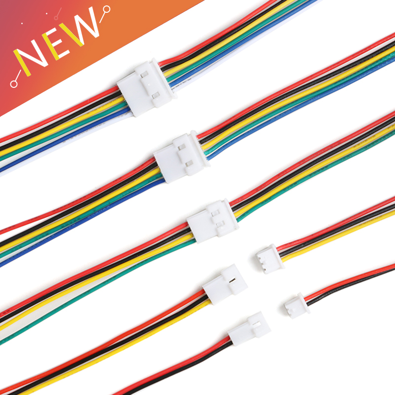 5Pair <font><b>Jst</b></font> Wire Cable Connector <font><b>JST</b></font> PH 1.25mm 2 Pin Micro <font><b>Male</b></font> <font><b>Female</b></font> Connector Jack Plug Connectors 10/15CM Wires image