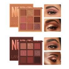 Moda nova chegada encantadora paleta de sombra 9 cores compõem paleta fosco shimmer sombra de olho beleza