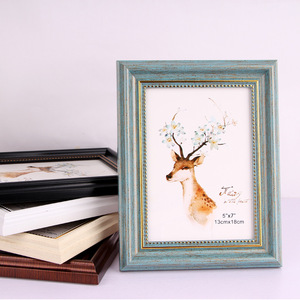 Newest trendy Quality Vintage Photo Frame Home Decor Retro Wooden Wedding Couple Recommendation Pictures Frames Photo Gift