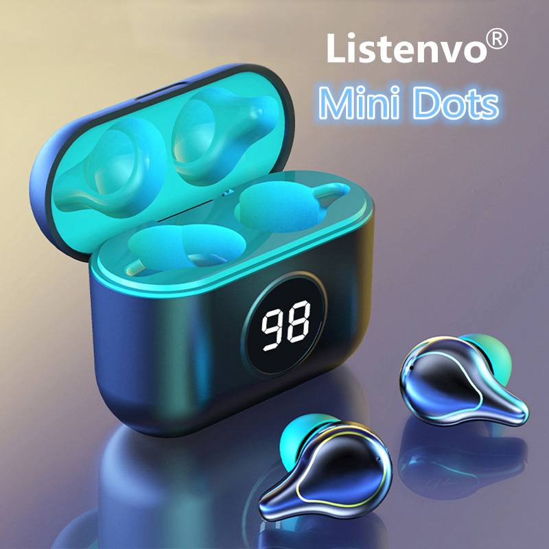 Listenvo miniDods tws Wireless Headphones mini Bluetooth 5 0 headsets 9D Stereo with Microphone Sports Running Headsets  HD Call