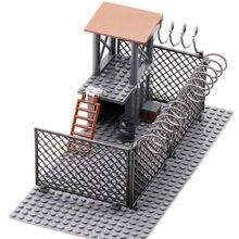 The walking dead wire mesh zombies prisão post cidade swat blocos de construção figuras tijolos educação brinquedos para crianças crianças presentes