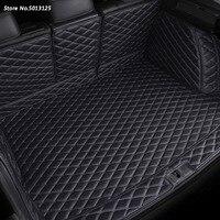 Car All inclusive Rear Trunk Mat Car Boot Liner Tray Rear Trunk Accessories For Hyundai Santa Fe 2019 2020 2013 2018